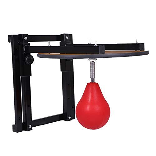 ZoSiP Boxtraining Wandbehang Geschwindigkeit Taschen Höhenverstellbarer Tragbare Boxen Speed Bag Erhöht Explosive Kraft Und Release-Druck (Color : Wood, Size : 59x59cm)