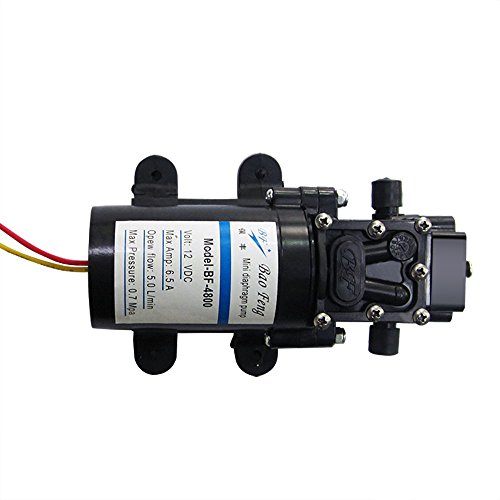 Nuzamas 12V selbstsaugende Hochdruck-Wasserpumpe 80W 100PSI 5,0 l/min