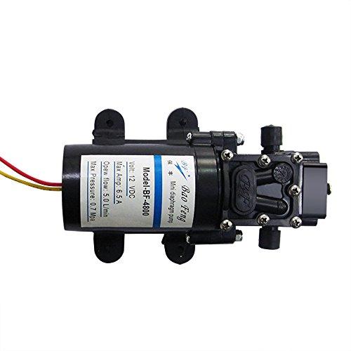 Nuzamas NEUF 12 V Haute Pression diaphragme Pompe à eau à amorçage automatique 80 W 100 psi 5.0l/min pour caravane/RV/bateau/marine