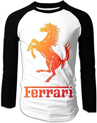 FERFF F-errari Shirt for Men Long Sleeve Mens Raglan t Shirts,XX-Large
