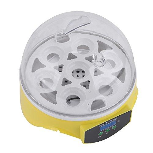 Keenso CE認定 7卵 孵卵機 鳥類専用 自動温度制御 簡単操作 ふ卵器 恒温器 ニワトリ アヒル ガチョウ キジ ウズラ