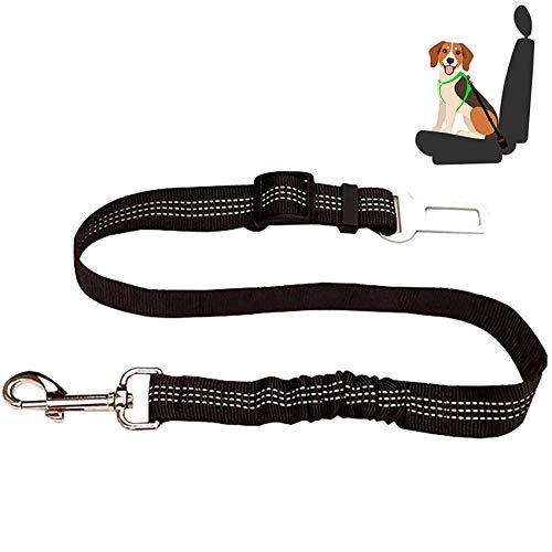 EasyULT Hunde Sicherheitsgurt, Hundesicherheitsgurt fürs Auto, Einstellbar Hundegurt mit Elastischer Ruckdämpfung und Starke Karabiner