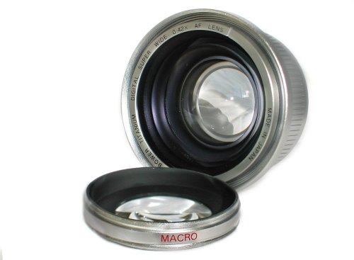 Bower - Lente de titanio superancha (46 mm, 0,42 AF con macro en color plateado)