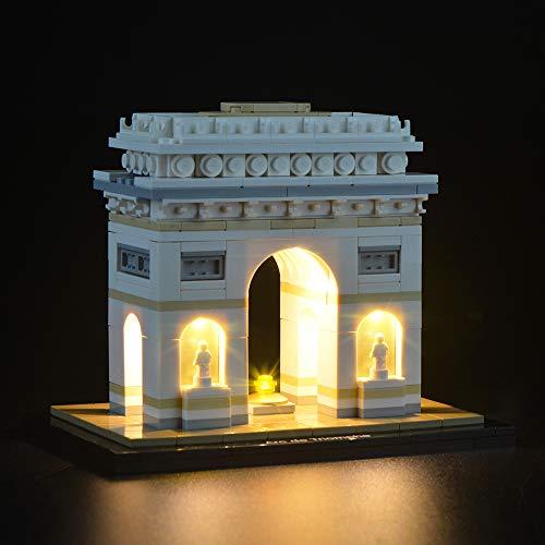 LIGHTAILING Conjunto de Luces (Architecture Arco del Triunfo) Modelo de Construcción de Bloques - Kit de luz LED Compatible con Lego 21036 (NO Incluido en el Modelo)