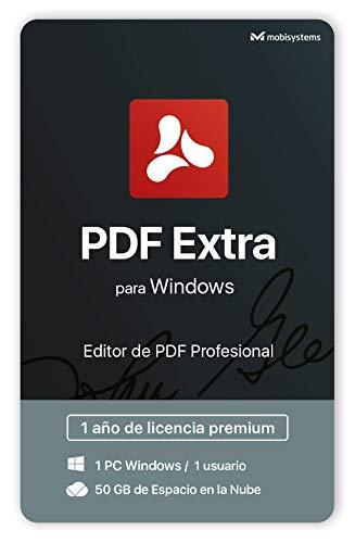 PDF Extra - Editor de PDF profesional - Edita, Protege, Anota, Convierte, Completa y Firma los PDF - 1 PC Windows / 1 Usuario / Licencia de 1 Año