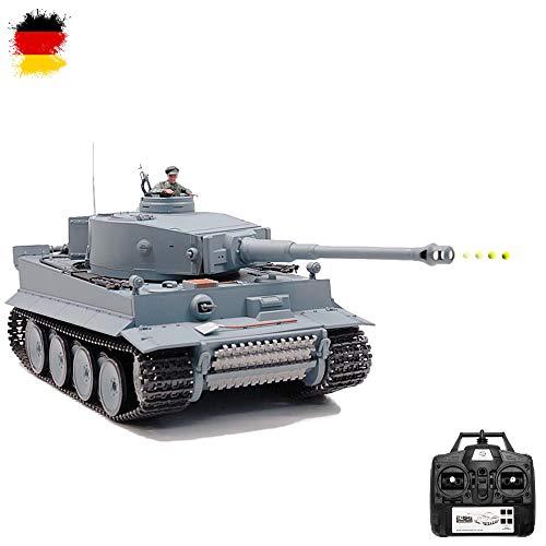 German Tiger I 2.4GHz-Edition RC ferngesteuerter 1/16 Panzer,Schuss,Sound,Rauch,Komplett-Set RTR