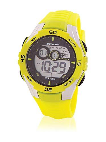 Dunlop Reloj Digital para Unisex Adultos de Cuarzo con Correa en Caucho DUN233G12