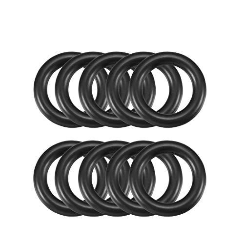 4mm x 22mm Black Rubber Sealing O Ring Seal Tüllen Waschmaschine 10PCS de