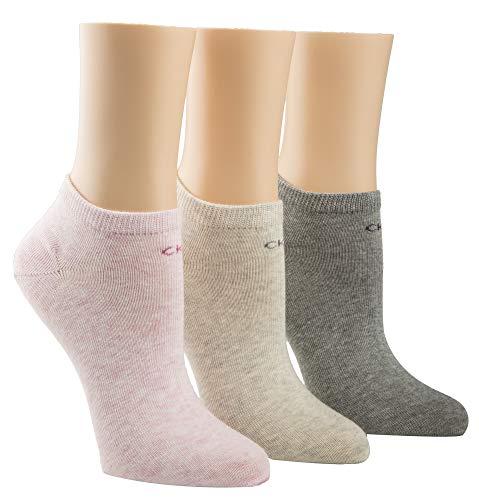 Liner-Socken mit Logo für Damen von CALVIN KLEIN - Hellrosa Grau Combo - ONE SIZE