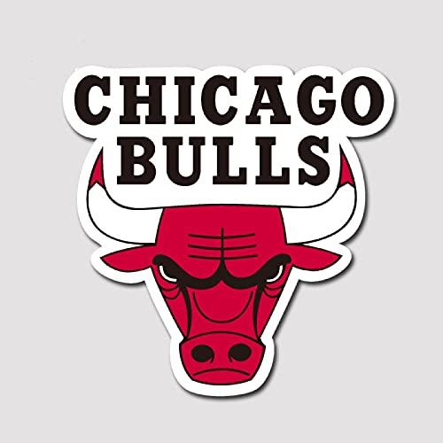 LVLUO Nba Pegatinas para equipaje Chicago Bulls Logo Pegatinas personalizadas impermeables para cuadernos [Tamaño del producto puede personalizarse]