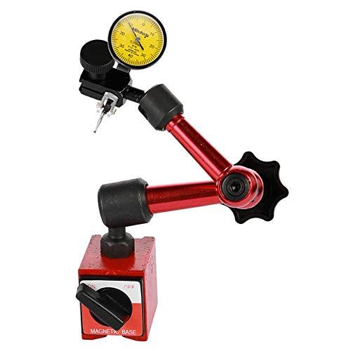 Casinlog Indicador de Palanca Universal Impermeable Dial Indicador de Dial de Alta PrecisióN de 0,01 Mm con Base MetáLica MagnéTica Flexible B