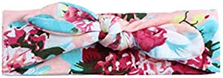 Flower Print Knot Cross Headband Baby Hair Accessories Baby Headbands Turban Knotted Pink