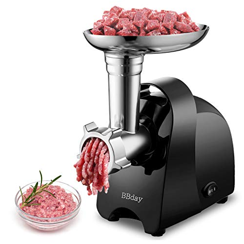 Electric Meat Grinder,Multifunction Meat Mincer & Sausage Stuffer,with 3 Grinding Plates, Sausage & Kubbe Kit for Home Kitchen & Commercial Using,Easy to Clean