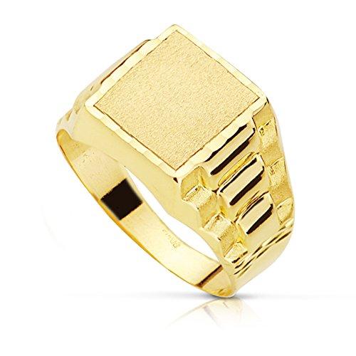 Sello caballero Evan. Oro amarillo 18 kilates - Personalizado, grabado incluido iniciales