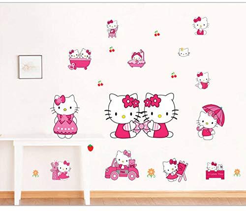 Kibi Hallo Kitty Wandsticker Wandaufkleber hello Kitty Wandsticker Kinderzimmer Hello Kitty Wandtattoo Hello Kitty Wandtattoo hello Kitty Kinderzimmer Wanddeko Wandtattoos/Aufkleber Hello Kitty XXl