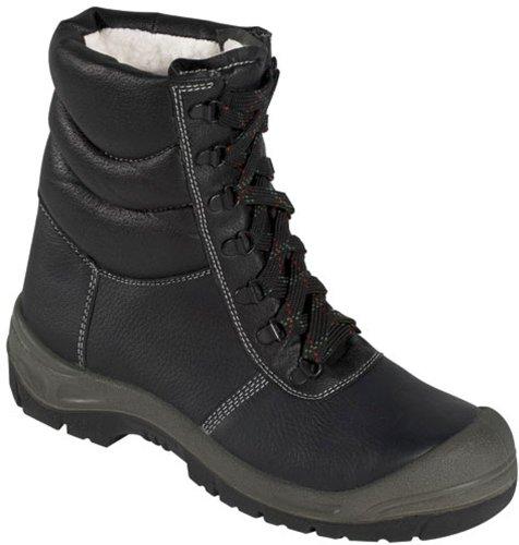 Winter-Schnürstiefel Sicherheits-Schnürstiefel SAALFELD ÜK - S3 - mit Stahlkappe - schwarz/grau - Größe: 44