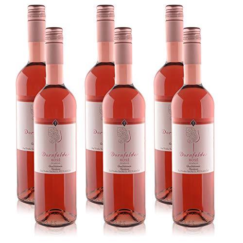 6 Flaschen Josef Drathen Dornfelder Rosé Rheinhessen Deutscher Qualitätswein, feinherb (6x0,75 l)