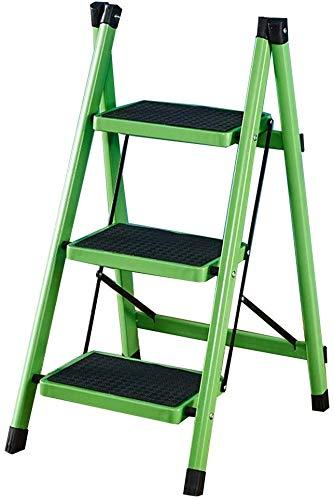 ZSPSHOP 3 Tread Safety Non Slip Folding Step Ladder trapladder Afmeting: 39 * 52 * 80CM