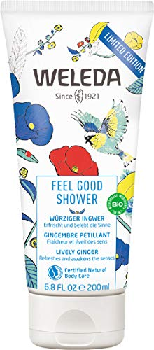 WELEDA Feel Good Shower, pflegende Naturkosmetik Dusche für den Sommer, Limited Edition Duschgel auf pflanzlicher Basis mit frischem Sommerduft (1 x 200ml)