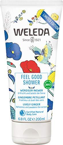 WELEDA Feel Good Shower, pflegende Naturkosmetik Dusche für den Sommer, Limited Edition Duschgel auf pflanzlicher Basis mit frischem Sommerduft (1 x 200ml)