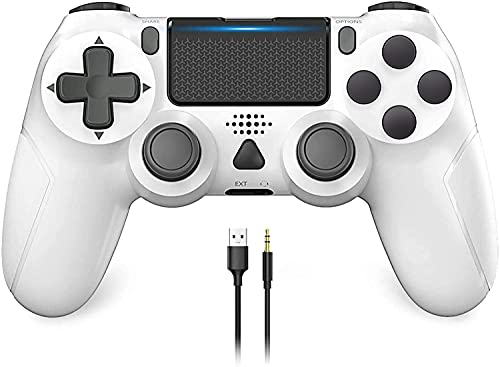 Game Controller for PS-4, YCCSKY 1000mAh Wireless Controller for PS-4/ PS-4 Slim/PS-4 Pro Console with Share Button/Ergonomic Design/Vibration Function (White)