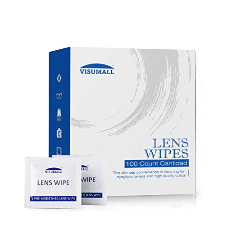 Lens Cleaning Wipes Glasses Cleaner - 100 Separate Packages afely Cleans Eye Glasses, Sunglasses, Screens, Electronics, Computer Monitor and Camera Lense.