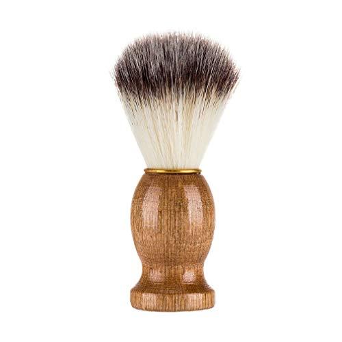 Binghotfire Afeitado Barba Cepillo Salón Hombres Aparato de Limpieza de Barba Facial Herramienta de Afeitado Marrón