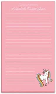Personalized Fantasy Unicorn Kids Note Pad - 50-sheet 5