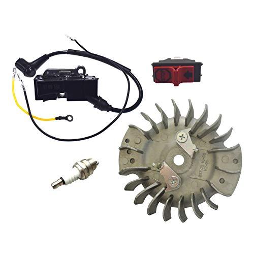 hndfhblshr Interruptor de Volante de Bobina de Encendido Compatible con H-usqvarna 365371372 372XP 336