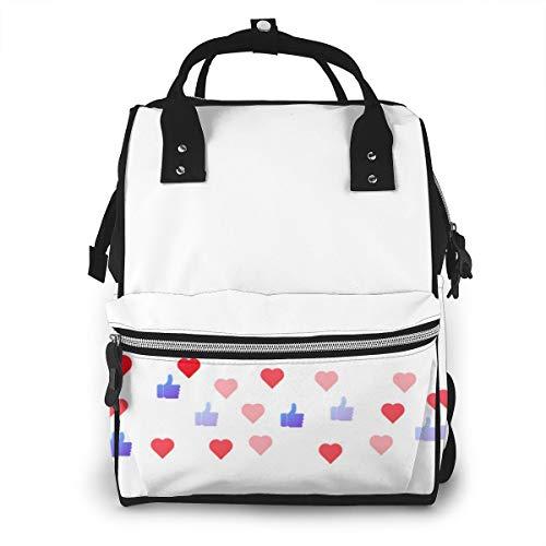 Live Stream LikesMultifunktions-Wickeltasche für Babypflege-Reiserucksack Weit geöffnete Wickeltaschen Handtaschen Leichte, große Kapazität