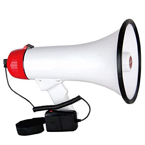 Megaphone Handheld Bullhorn Cheer Loudspeaker Bull Horn Speaker Rechargeable Siren Sling Strap Portable 5 Core 20F WB Ratings Best Deal