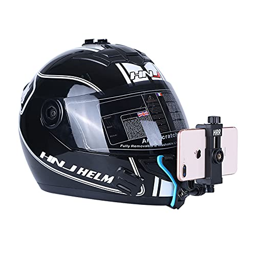 Helmet Chin Mount for Mobile Phone and GoPro, Motorcycle Strap Holder for iPhone Samsung,Compatible...
