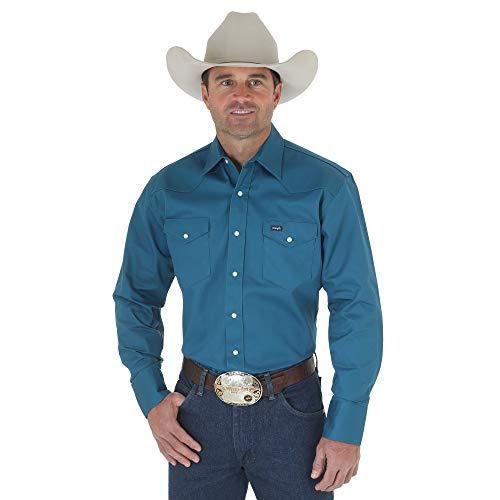 Wrangler Firm Finish Chemise de Travail Western pour Homme - Bleu - X-Large