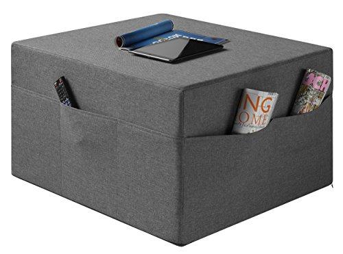 sleepling Komfort Visco Gästematratze/Sitzhocker de Luxe inkl. Husse in Härtegrad 2.5, 195 x 75 x 14 cm, grau