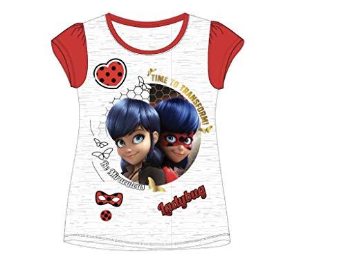 Miracolous Miraculous Ladybug T-Shirt Gr. 116-152 (116, grau Melange)