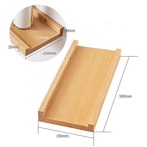 Drijvende Planken, Houten Decoratieve, Vintage Stijl Opslagplanken, Interieur Hangende Decoraties, Displayrek,Beuken Rek-500X150Mm