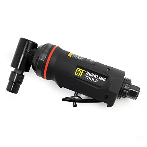 """Berkling Tools 1/4"""" Air Die Grinder Professional Grade Heavy Duty with Variable Speed Control (Angle, Right Angle)"""