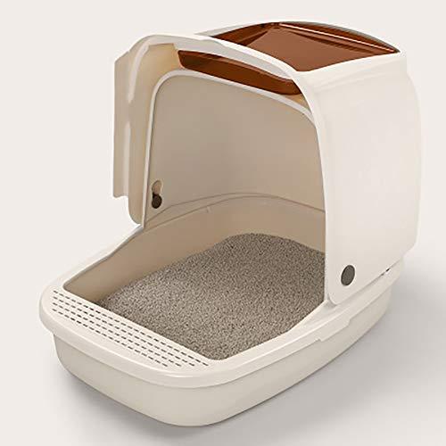 LSHUAIDJ Kattenbak goed volledig gesloten kat toilet deodorant nestkast dubbele kat luipaard kat benodigdheden