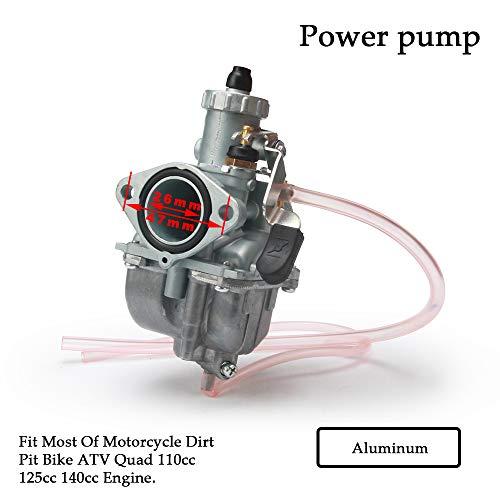 Jinyao Mikuni VM22 - Carburador de 26 mm para la mayoría de motores de motocross de entrada de motocicleta ATV Quad 110 cc 125 cc 140 cc