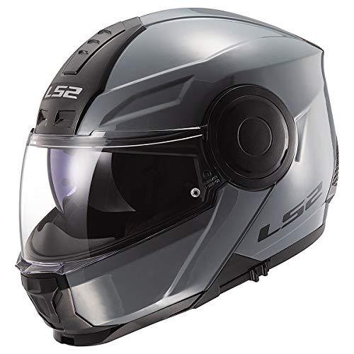 LS2 Helmets Horizon Modular Helmet W/SunShield (Gloss Battleship Gray - Medium)