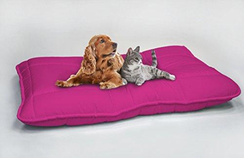 Italian Bed Linen Maxy Cuscinone per Cani Imbottito 60x100cm fucsia