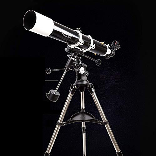SHKUU Telescopios astronómicos Profesionales, 80 mm de Apertura, 900 mm de Longitud Focal, Montaje en AZ, refracción astronómica, telescopio portátil de Viaje con trípode y buscador