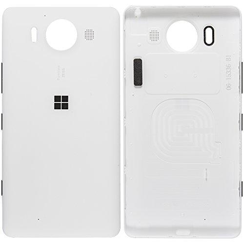 Original Microsoft Akkudeckel white / weiß für Microsoft Lumia 950 (Akkufachdeckel, Batterieabdeckung, Rückseite, Back-Cover) - 00814D8