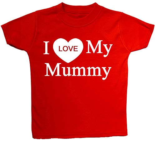 T-Shirts I Love My Mummy Baby/Children 0 à 5 ans - Rouge - Large