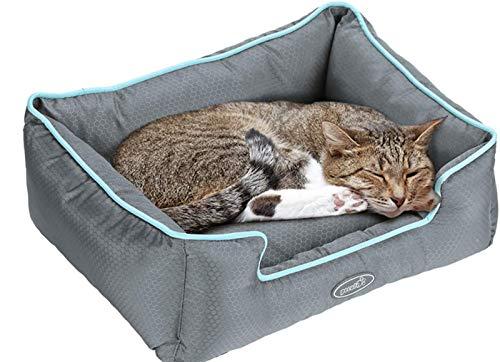 Pecute Cama de Perros y Gatos Alfombra para Mascotas Tela Impermeable Desmontable y Extraíble (S:49 * 44cm)