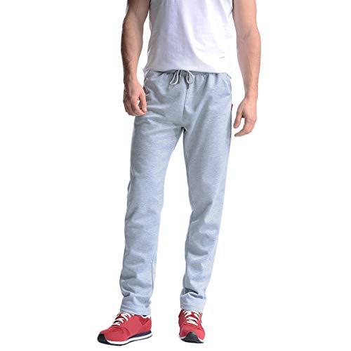 Tefamore Nouveau été Shorts Solides Sport Respirant Grande Taille Pantalons Simple d'homme(Bleu Clair,XXXX-Large)