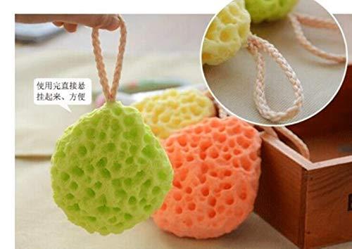 Z-MIN 4pcs/lot Soft Bath Ball Water Droplet Honeycomb Shower Bath Sponge Wash Body Kids Adults Bath Brushe