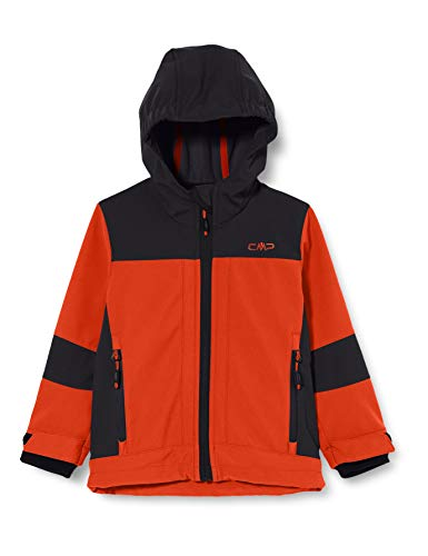 CMP Jungen Giacca Softshell Con Tecnologia Climaprotect Wp 7.000 Jacke, Rot (Flame), 104