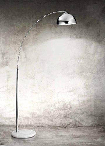 Plafondstraler Perenz 4324 chroom glanzend met marmeren voet - afmetingen H.180 x 80 x ø 30 cm - 1Xe27 Max.100 W - plafondlamp model Perenz 4324