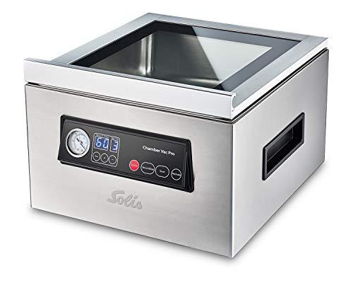 Solis Chamber Vac Pro 5702 Professionelles Vakuumiergerät - Für Trockene und Feuchte Lebensmittel sowie Flüssigkeiten - Marinierfunktion - Inklusive 30 Vakuumbeutel - 7L Fassungsvermögen